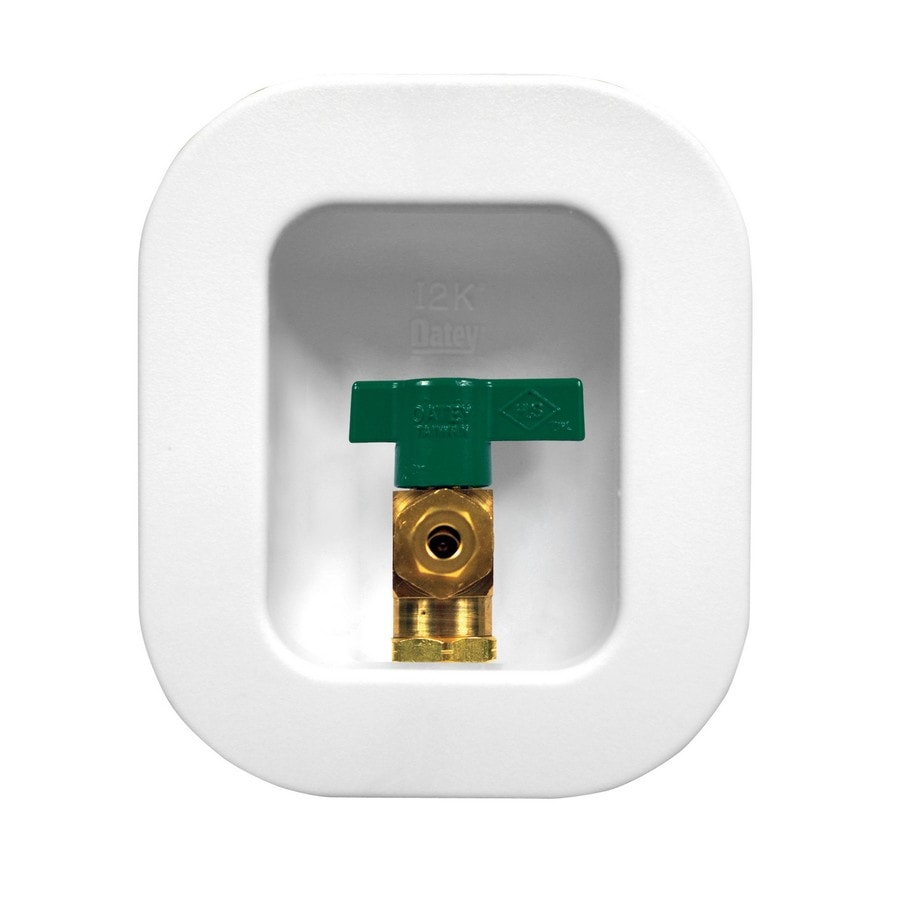 Oatey Quarter Turn Ball Valve Copper Sweat Ice Maker Outlet Box