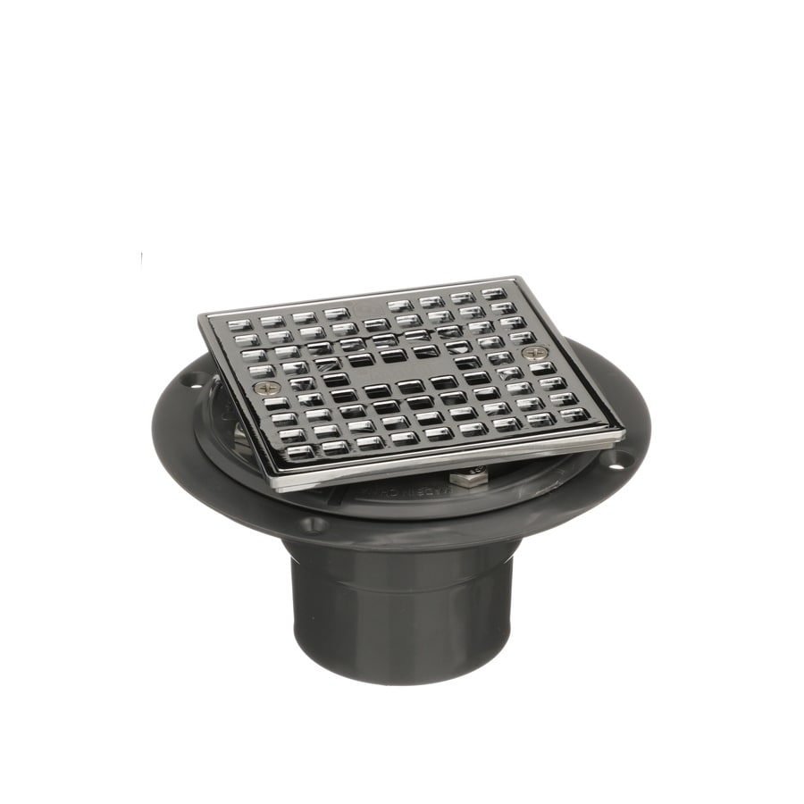 Oatey 6 In L Square Holes Square Pvc Shower Drain At Lowes Com