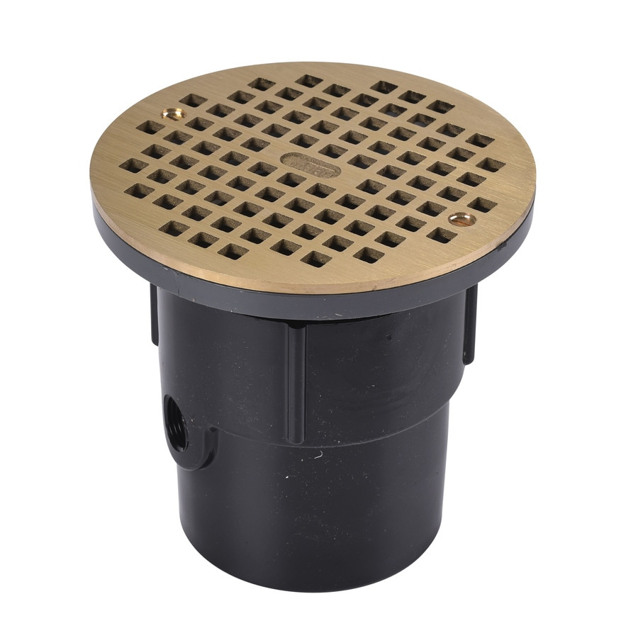 Oatey 4-in Square Holes Round Brass Adjustable Shower Drain At Lowes.com