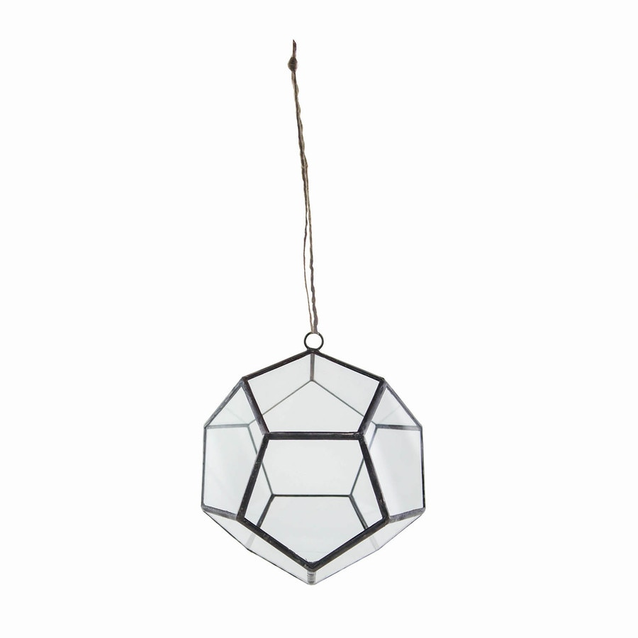 Syndicate Home & Garden 6-in x 5.3-in Crystal Glass Hanging Terrarium