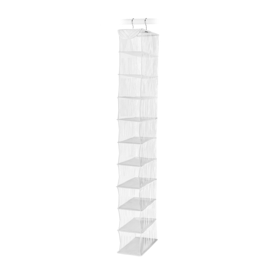 Style Selections 10-Pair Clear with White Piping Plastic Shoe Rack