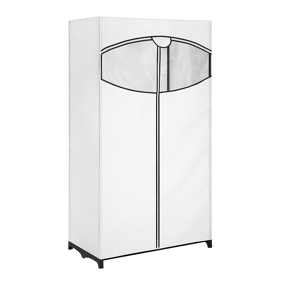 Style Selections White Steel Clothing Rack With Cover