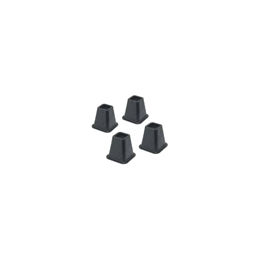 Whitmor 4-Piece 6-in Black Plastic Bed Risers