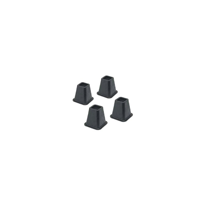 Whitmor 4 Piece 6 In Black Plastic Bed Risers In The Bed Risers Department At Lowes Com