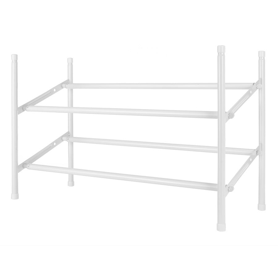 White Shoe Rack Part - 42: Style Selections 20 Pair White Metal Shoe Rack
