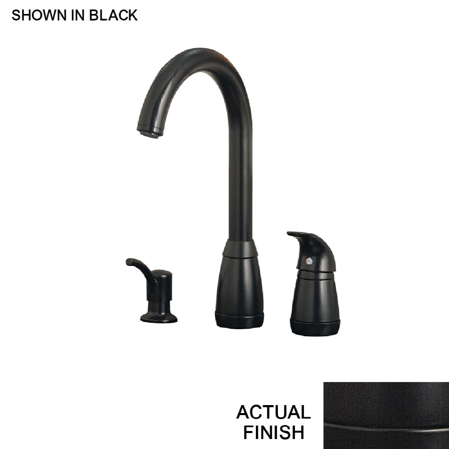 shop price pfister contempra black 1 handle pull down kitchen faucet at