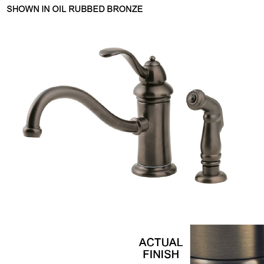 Pfister Marielle Oil Rubbed Bronze 1 Handle Low Arc Kitchen Faucet