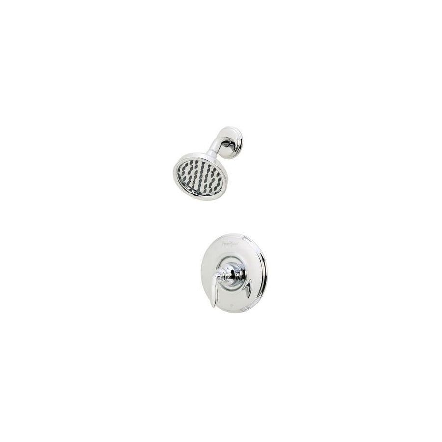Pfister Avalon Polished Chrome 1-Handle Shower Faucet Trim Kit with Rain Showerhead