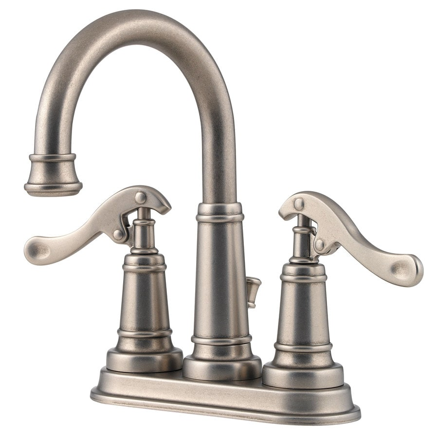 Pfister Ashfield Rustic Pewter 2 Handle 4 In Centerset Bathroom Faucet  (Drain Included