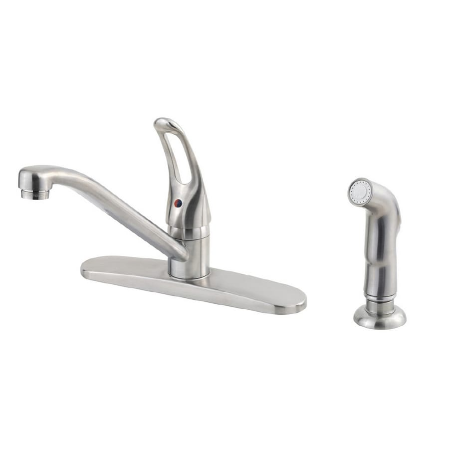 Shop Price Pfister Lowe\'s Classic Stainless Steel 1-Handle Low-Arc ...