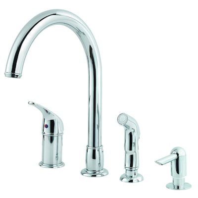 price pfister contempra kitchen faucet price pfister contempra chrome 1 handle high arc kitchen faucet with side spray at lowes com 8407