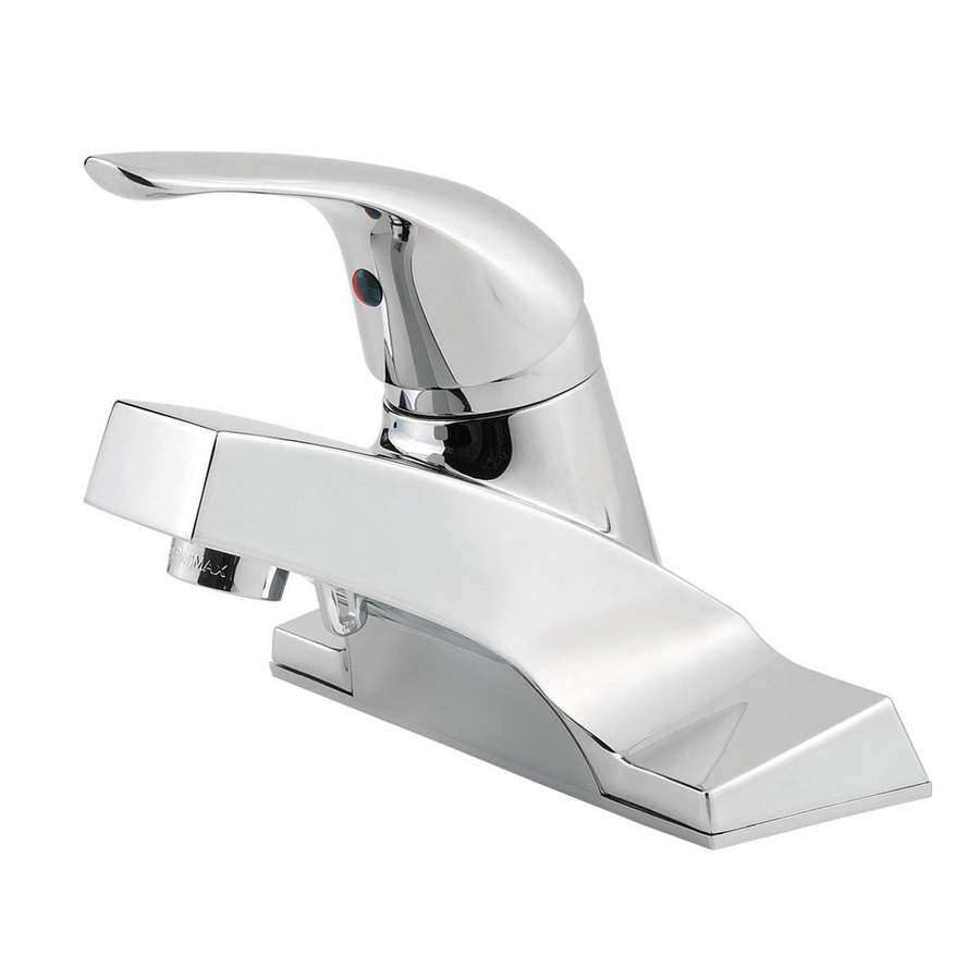 Pfister Pfirst Polished Chrome 1-Handle 4-in Centerset Bathroom Faucet