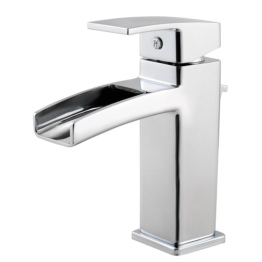 Pfister Kenzo Polished Chrome 1-Handle Single Hole WaterSense Labeled Bathroom Sink Faucet (Drain Included)