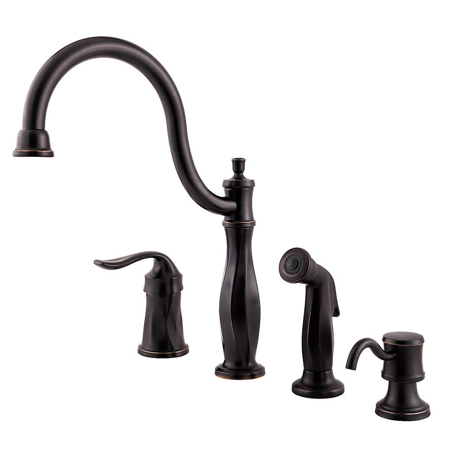 Pfister Cadenza Tuscan Bronze 1-Handle High-Arc Kitchen Faucet