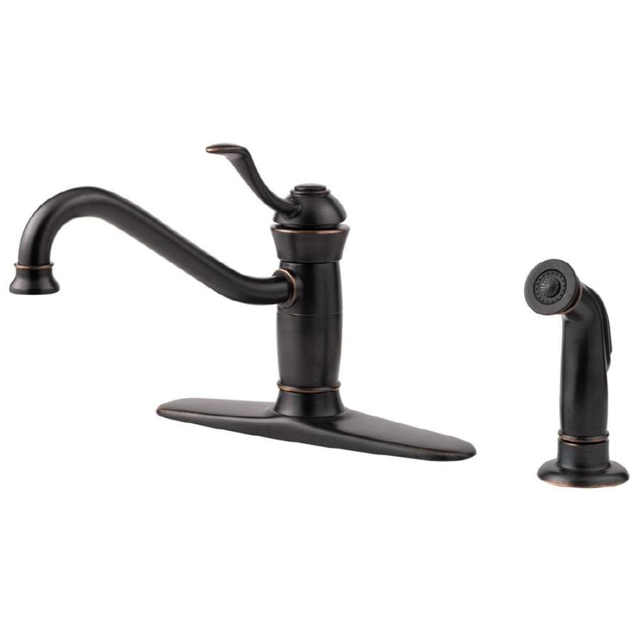 Shop Pfister Wakely Tuscan Bronze 1-Handle Low-Arc Kitchen