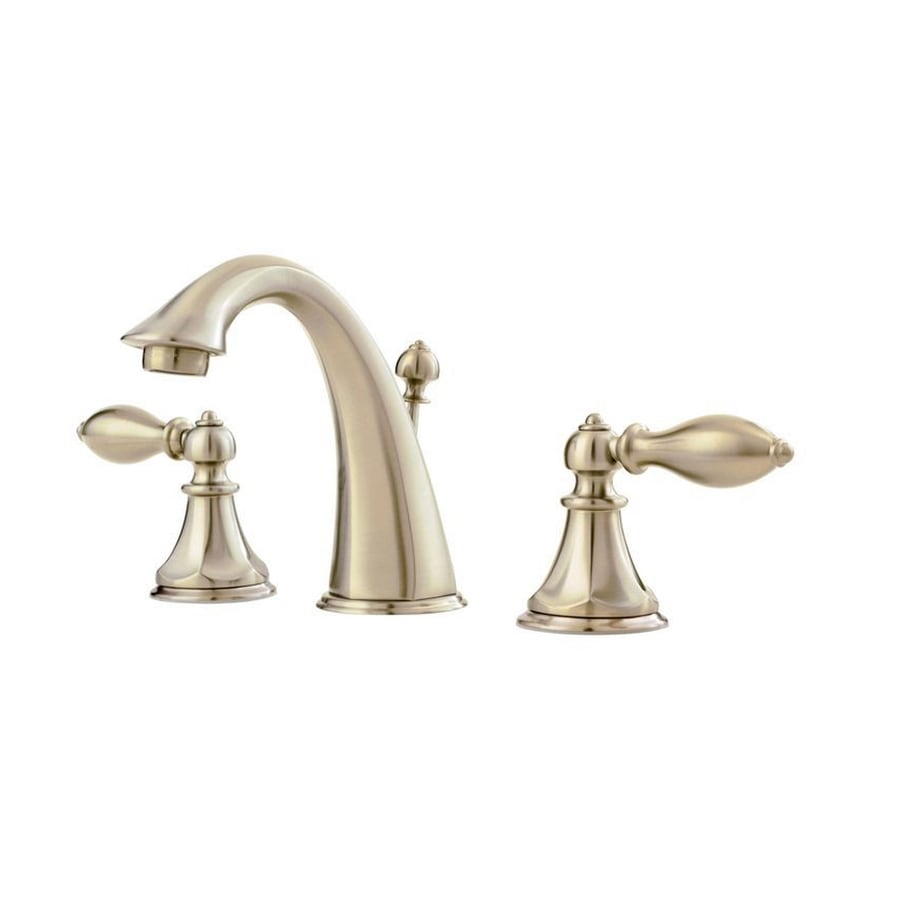 Pfister Catalina Brushed Nickel 2 Handle Widespread Watersense Bathroom Faucet Drain Included