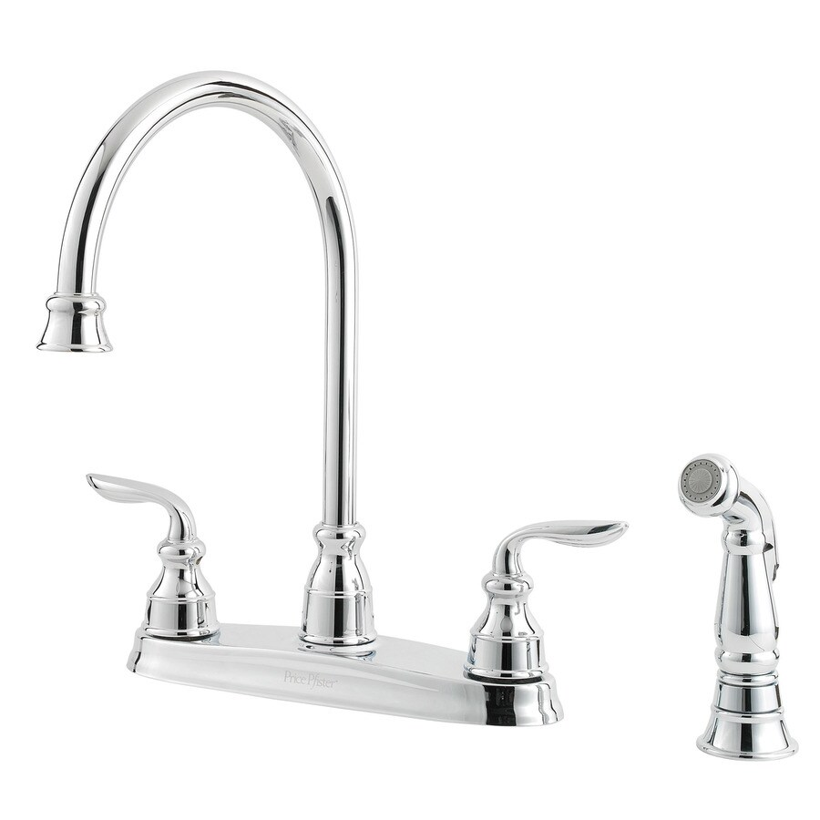 Pfister Avalon Polished Chrome 2-Handle High-Arc Kitchen Faucet with Side Spray