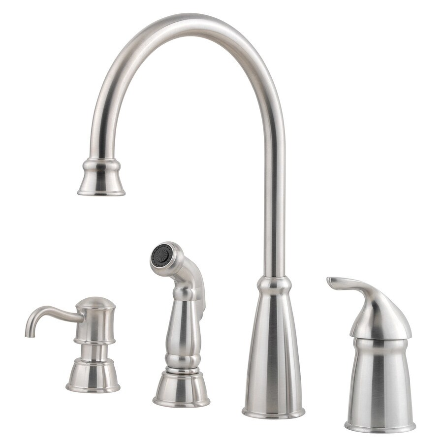 Pfister Avalon Stainless Steel 1-Handle High-Arc Kitchen Faucet