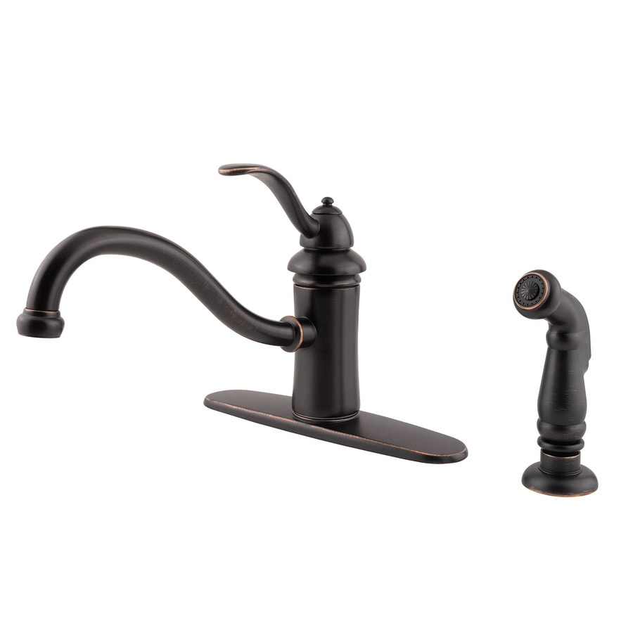Low Arc Kitchen Faucet Shop Pfister Marielle Tuscan Bronze 1 Handle Low Arc Kitchen