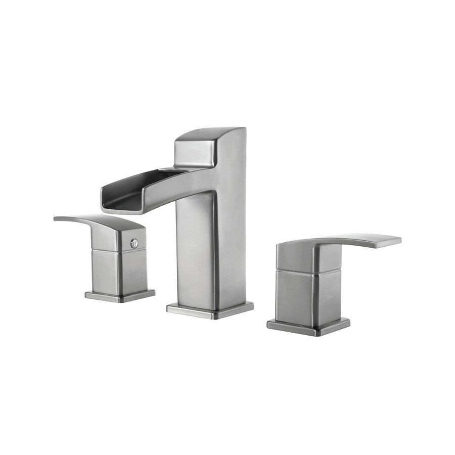 Pfister Kenzo Brushed Nickel 2-Handle Widespread WaterSense Bathroom Faucet (Drain Included)