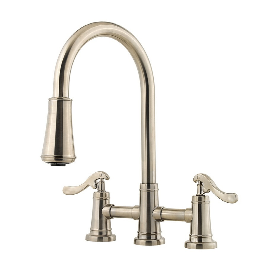 Price Pfister Ashfield Brushed Nickel 1 Handle Pull Down Kitchen Faucet In The Kitchen Faucets Department At Lowes Com