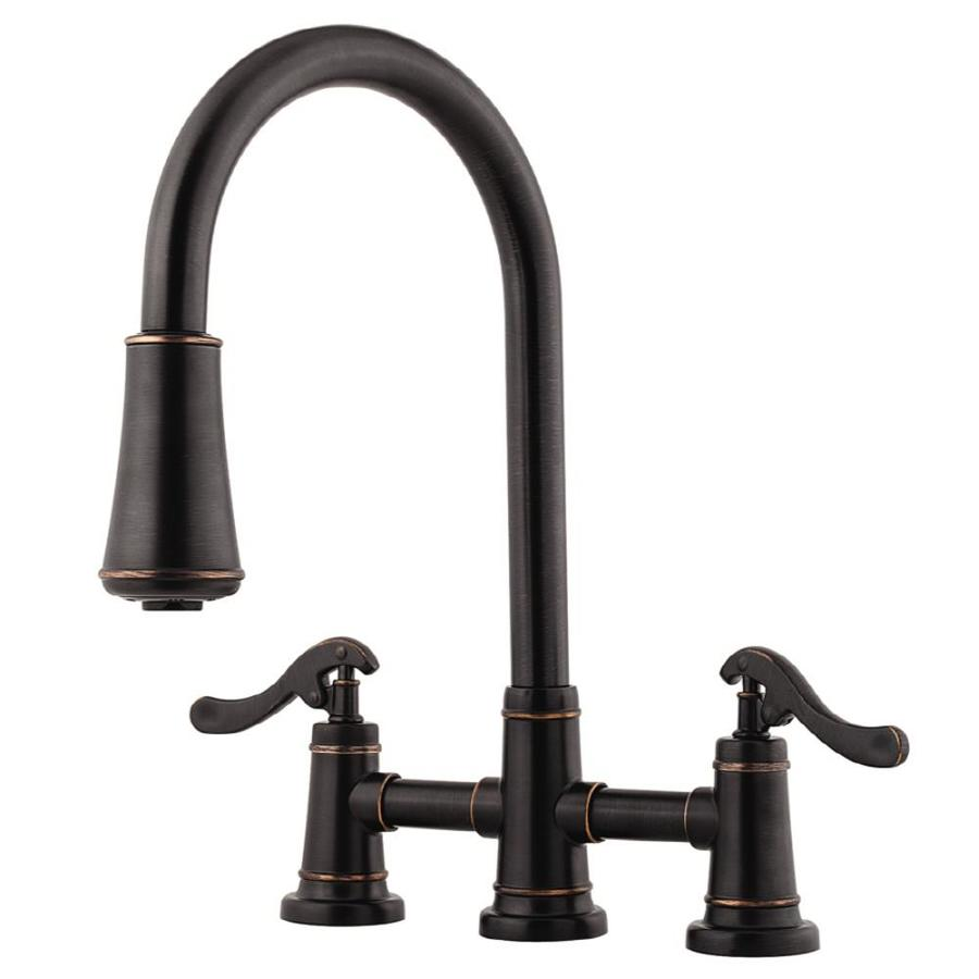 Pfister Ashfield Tuscan Bronze 2-Handle Pull-Down Kitchen Faucet