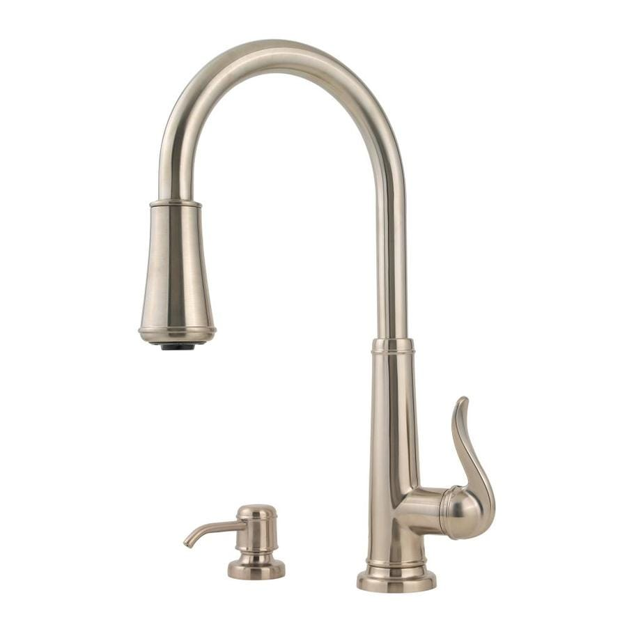 Shop Pfister Ashfield Brushed Nickel 1 Handle Pull Down Kitchen Faucet At
