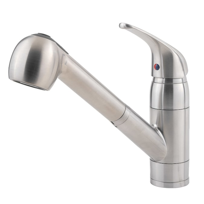Pfister Pfirst Stainless Steel 1 Handle Pull Out Kitchen Faucet In The Kitchen Faucets Department At Lowes Com