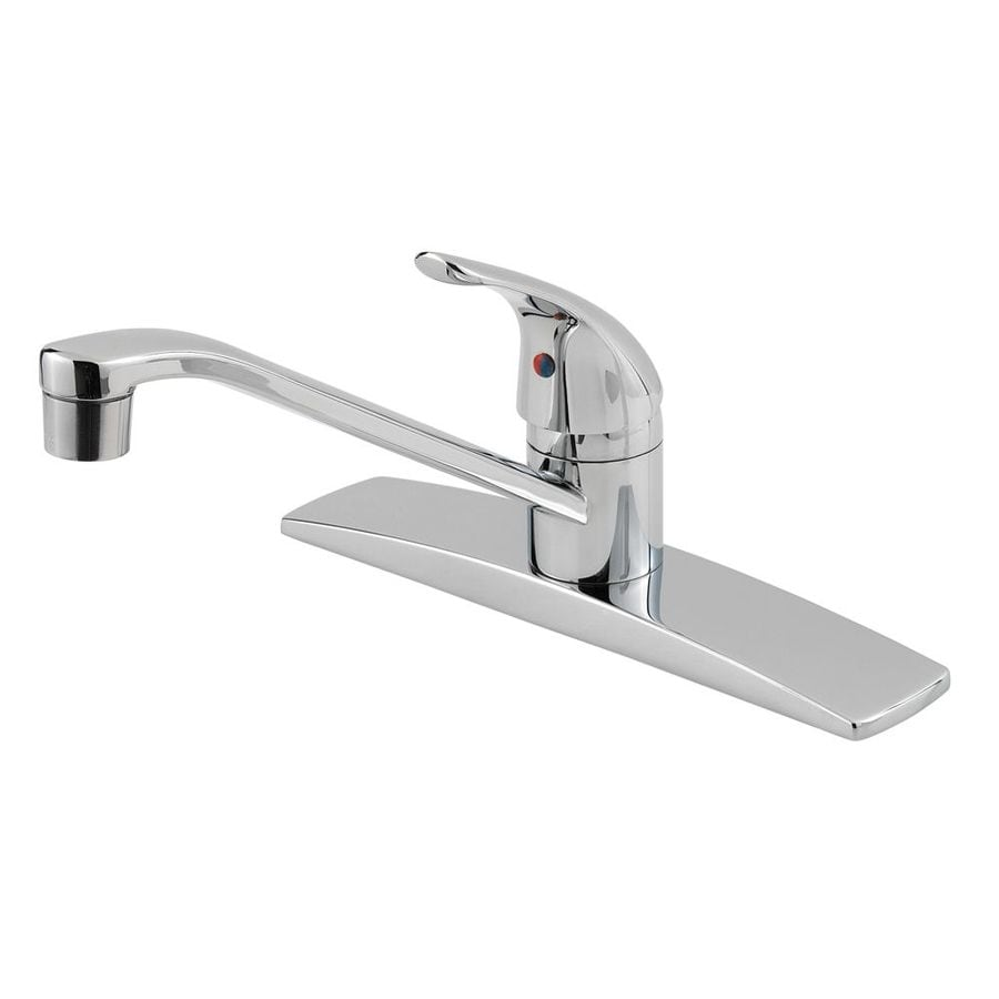 Shop Pfister Pfirst Polished Chrome Handle LowArc Kitchen - Low arc kitchen faucet