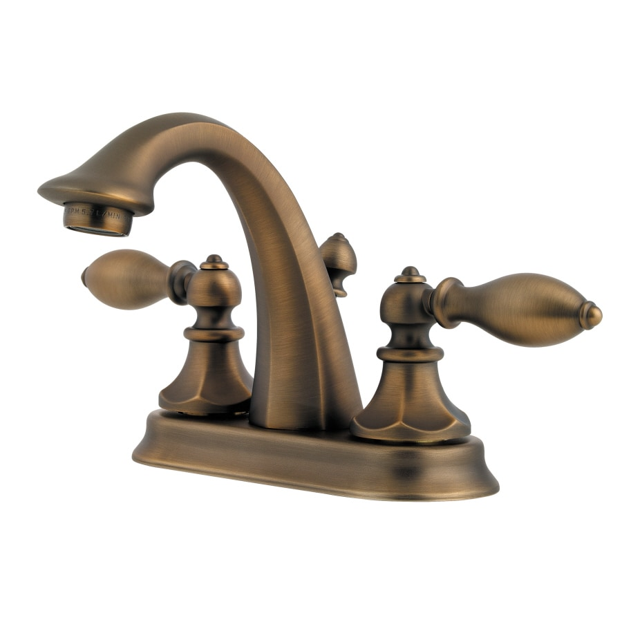 Pfister Catalina Velvet Aged Bronze 2-Handle 4-in Centerset WaterSense Bathroom Faucet (