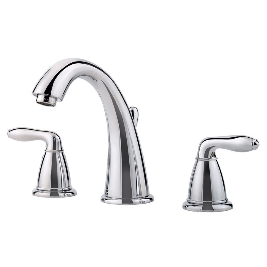 Pfister Serrano Polished Chrome 2-Handle Widespread WaterSense Bathroom Faucet (Drain Included)