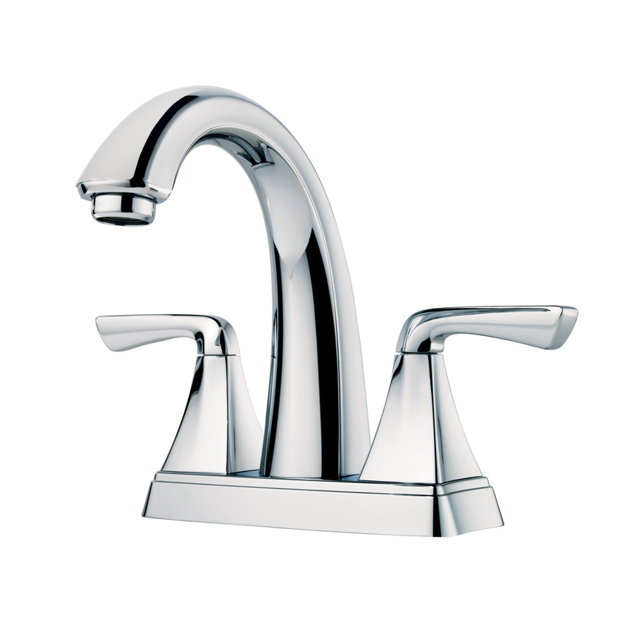 Pfister Selia Polished Chrome 2-Handle 4-in Centerset WaterSense Bathroom Faucet (Drain Included)