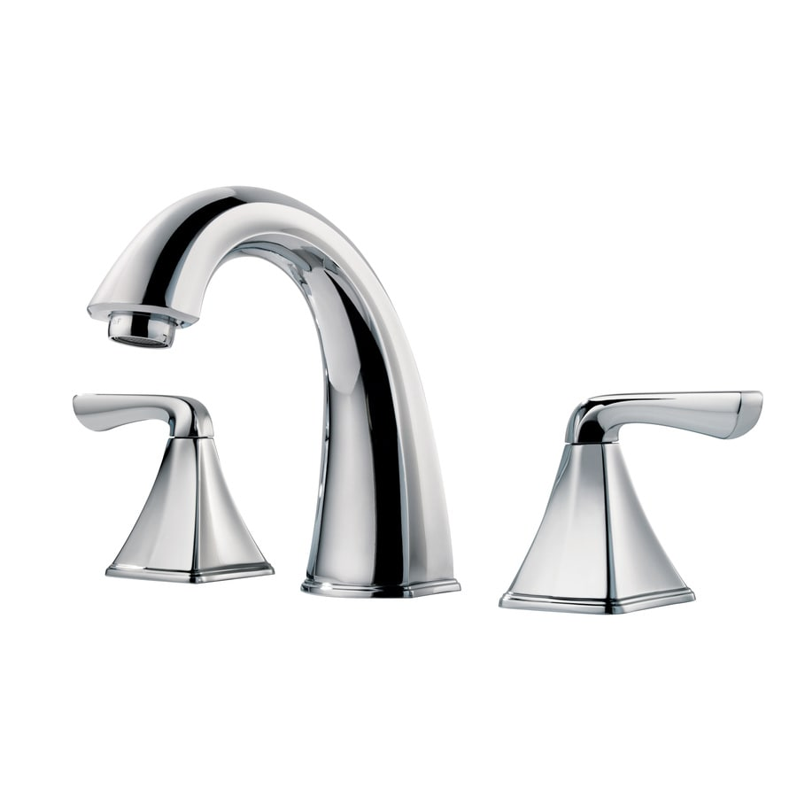 Pfister Selia Polished Chrome 2 Handle Widespread WaterSense Bathroom Faucet   Drain Included. Shop Pfister Selia Polished Chrome 2 Handle Widespread WaterSense