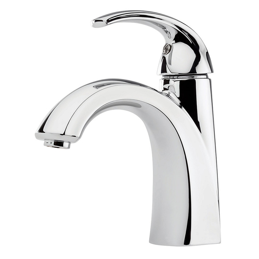 Pfister Selia Polished Chrome 1-Handle 4-in Centerset WaterSense Bathroom Faucet (Drain Included)