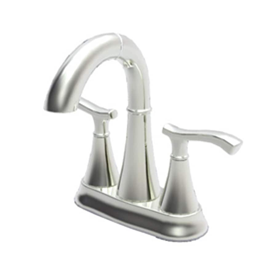 Shop Pfister Brushed Nickel 2-handle 4-in Centerset Bathroom Faucet ...
