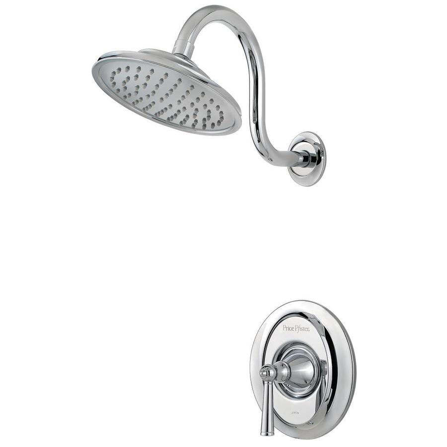 Pfister Saxton Polished Chrome 1-Handle Shower Faucet Trim Kit with Rain Showerhead