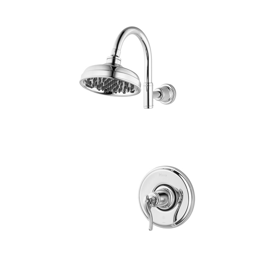 Pfister Ashfield Polished Chrome 1-Handle Shower Faucet Trim Kit with Rain Showerhead