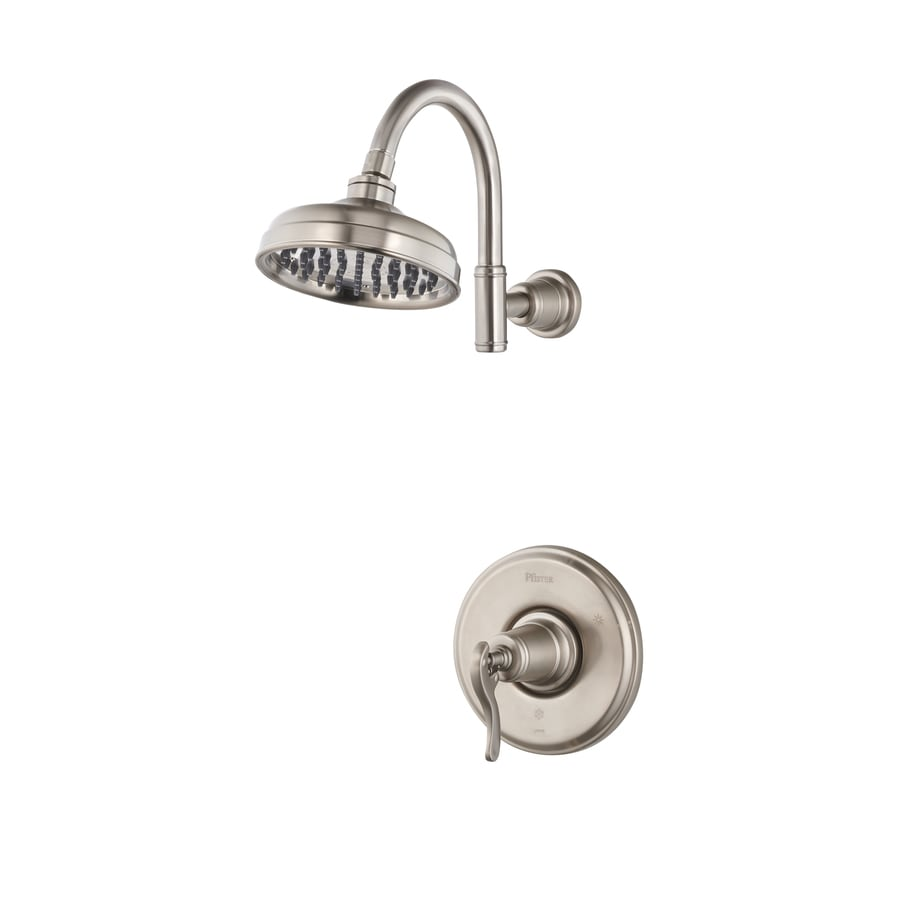 Pfister Ashfield Brushed Nickel 1-Handle Shower Faucet Trim Kit with Rain Showerhead