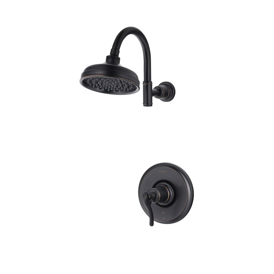 Pfister Ashfield Tuscan Bronze 1-Handle Shower Faucet Trim Kit with Single Function Showerhead
