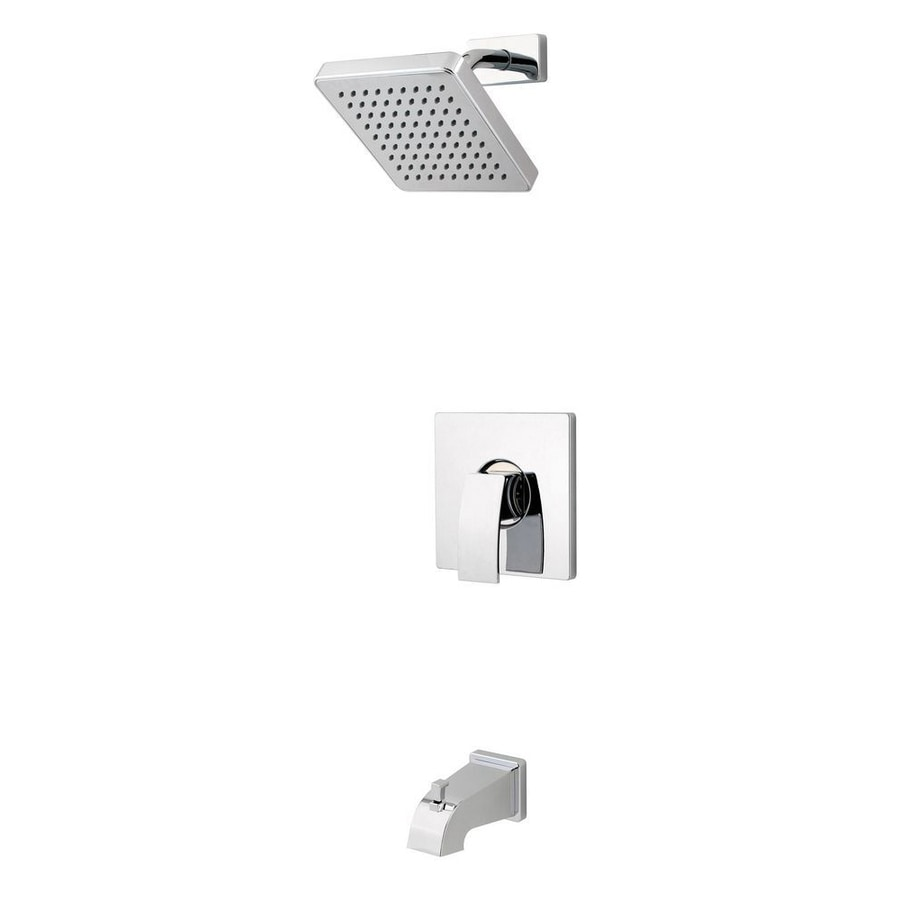 Pfister Kenzo Polished Chrome 1-Handle Bathtub and Shower Faucet Trim Kit with Single Function Showerhead