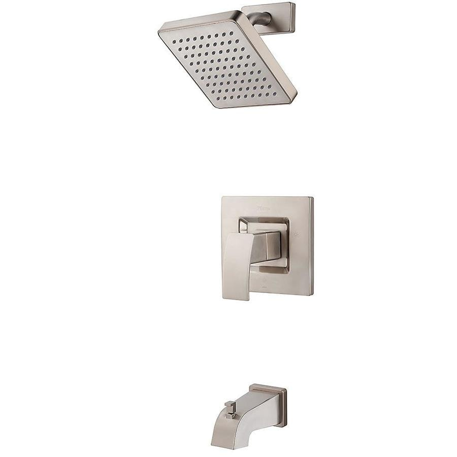 Shop Pfister Kenzo Brushed Nickel 1-Handle Shower Faucet at Lowes.com