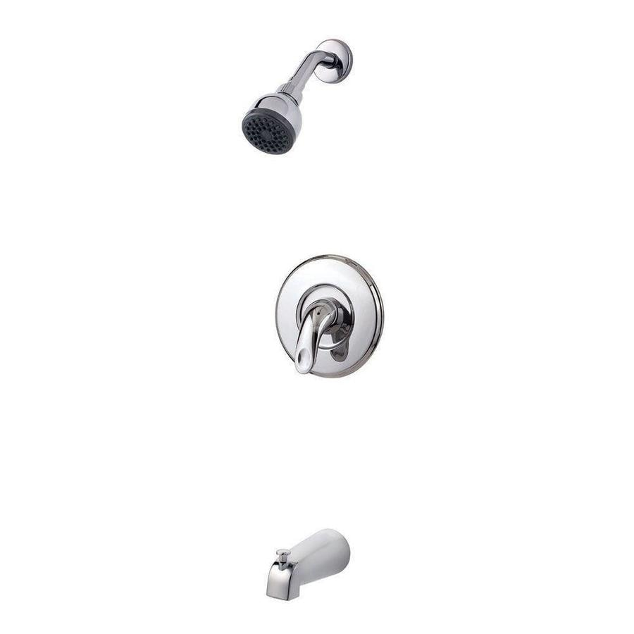 Pfister Serrano Polished Chrome 1-Handle WaterSense Bathtub and Shower Faucet Trim Kit with Single Function Showerhead