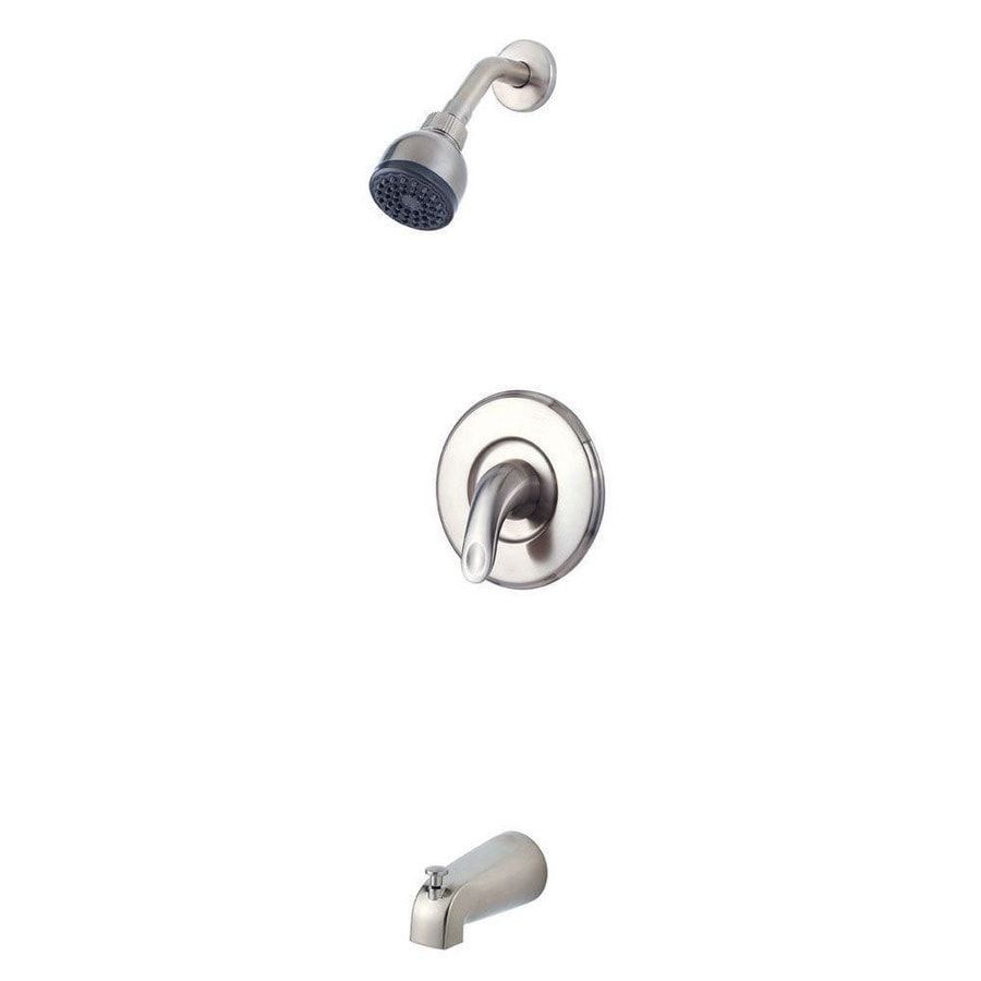 Pfister Serrano Brushed Nickel 1-Handle Handle(S) Included WaterSense Tub and Shower with Single Function Showerhead