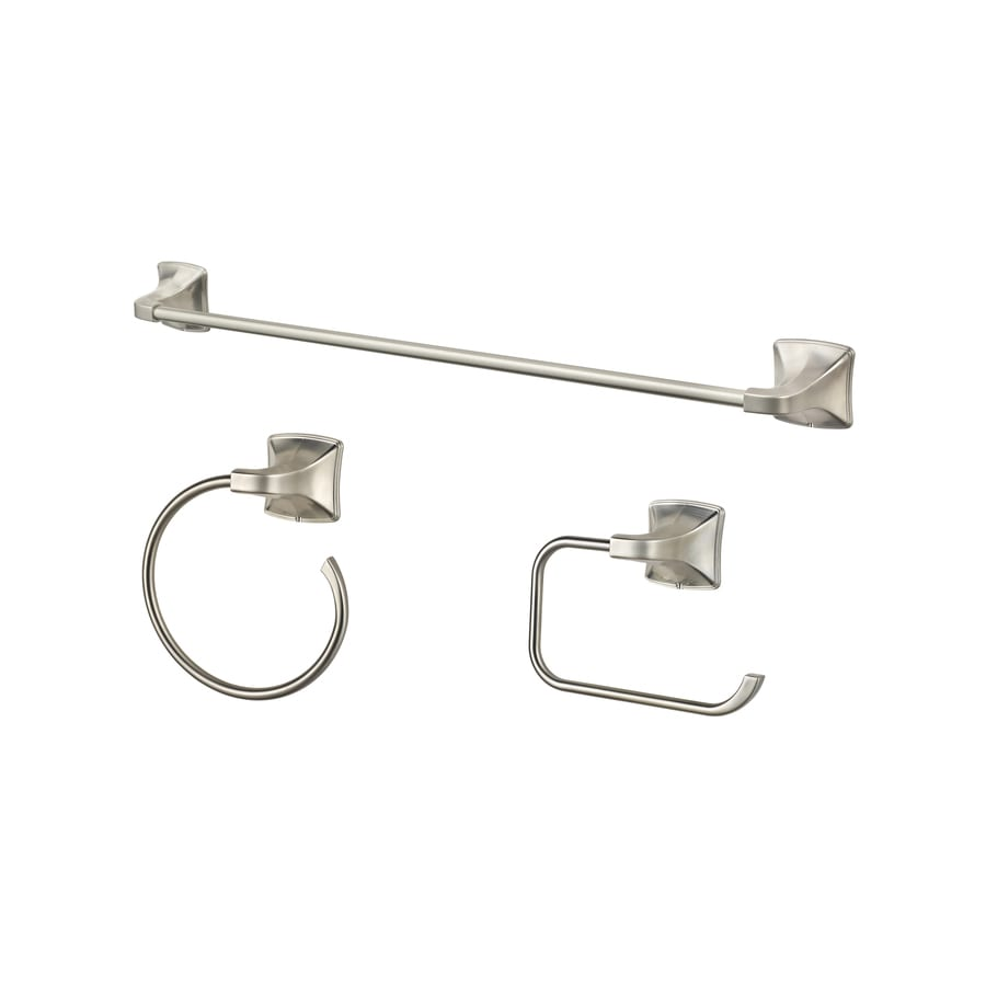 Pfister 3 Piece Selia Brushed Nickel Decorative Bathroom Hardware Set