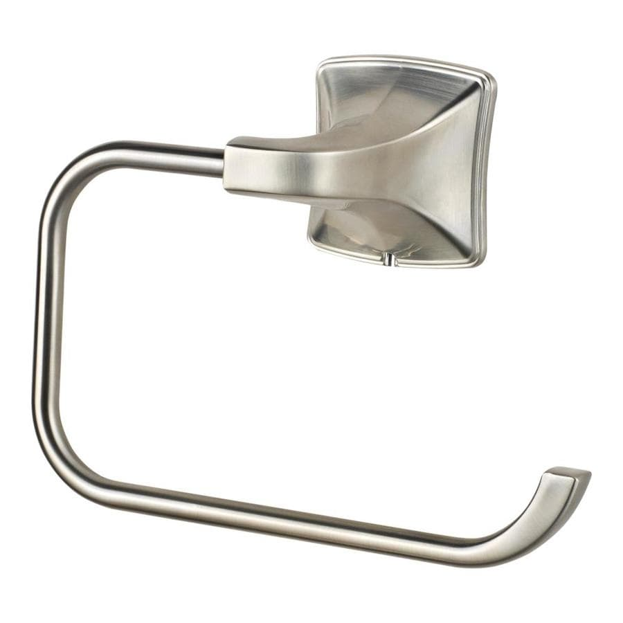 Pfister Selia Brushed Nickel Surface Mount Single Post with Arm Toilet Paper Holder