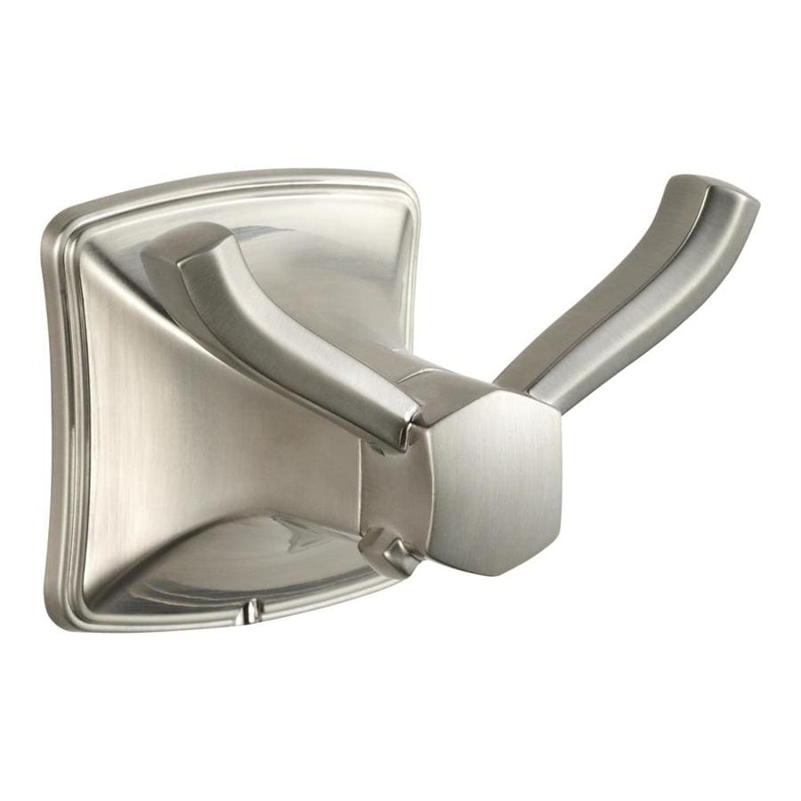 Pfister Selia 2-Hook Brushed Nickel Towel Hook