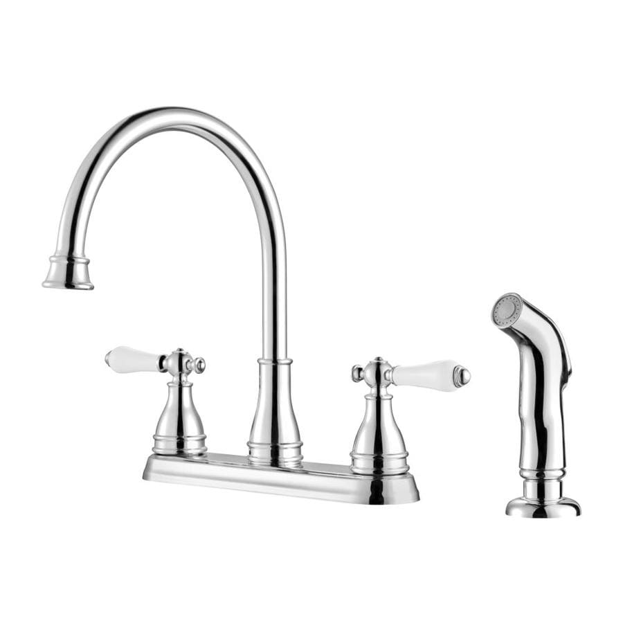 Pfister Sonterra Polished Chrome 2-Handle Deck Mount High-Arc Kitchen Faucet