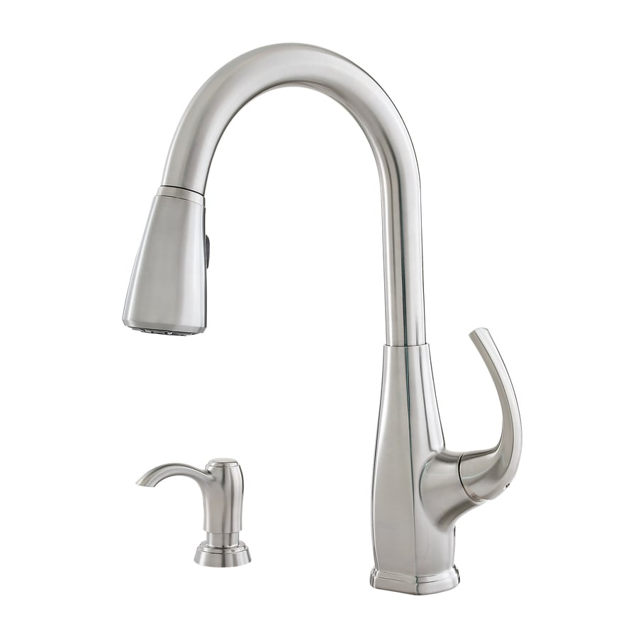 pfister selia kitchen faucet shop pfister selia stainless steel 1 handle pull deck 21254