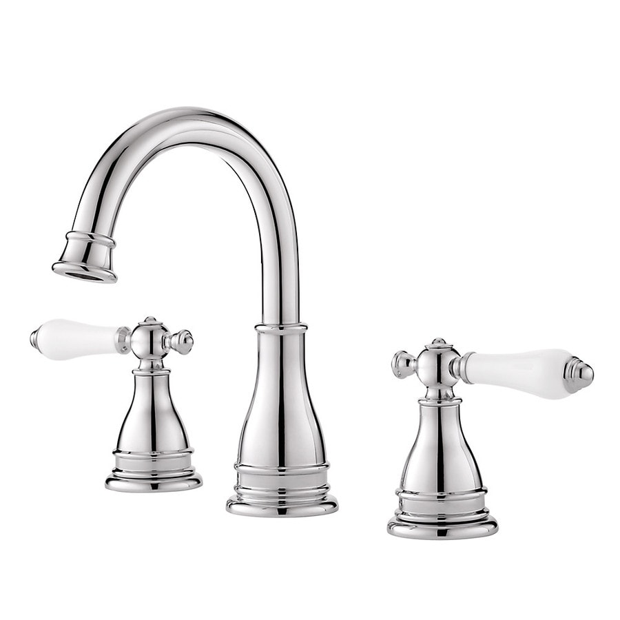 Shop pfister sonterra polished chrome 2 handle widespread for Bathroom faucets lowes