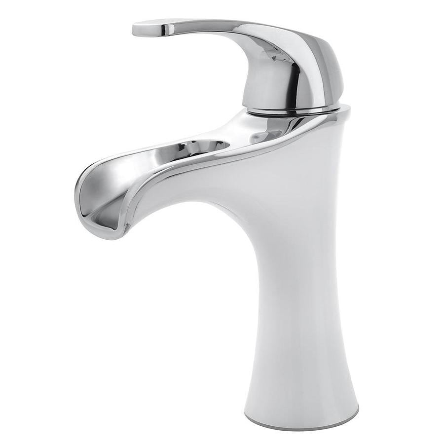 Shop Pfister Jaida White Polished Chrome 1 Handle Single Hole 4 In Centerset Bathroom Faucet At